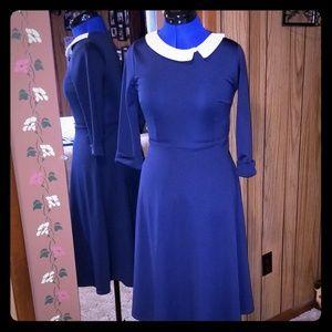 Vintage style navy dress